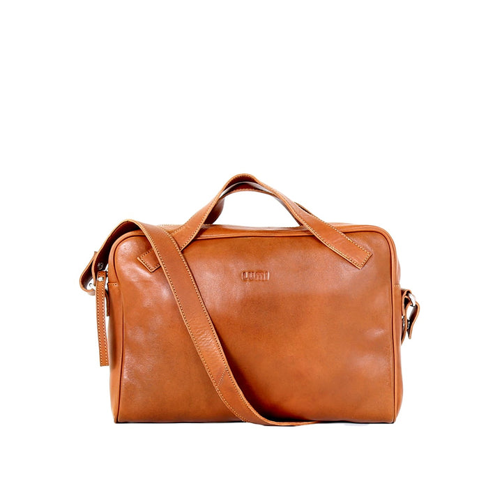 - Hilma Solid Laptop Bag Cognac