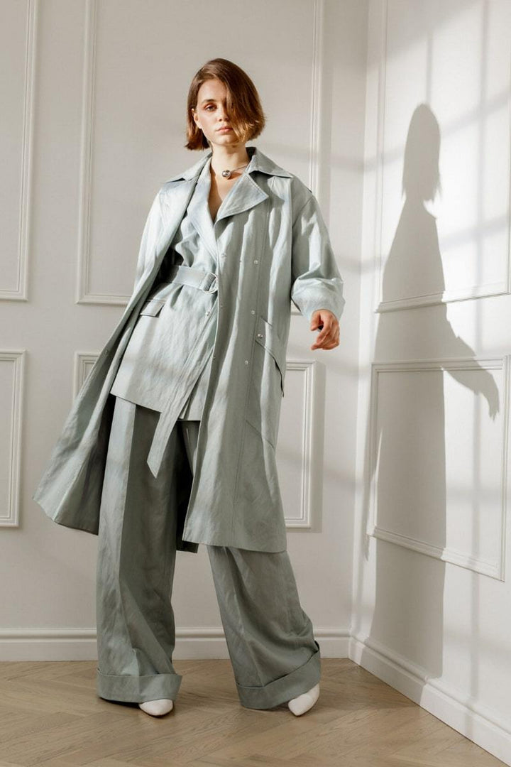 Diana Arno - JUDITH COTTON TRENCH IN MINT
