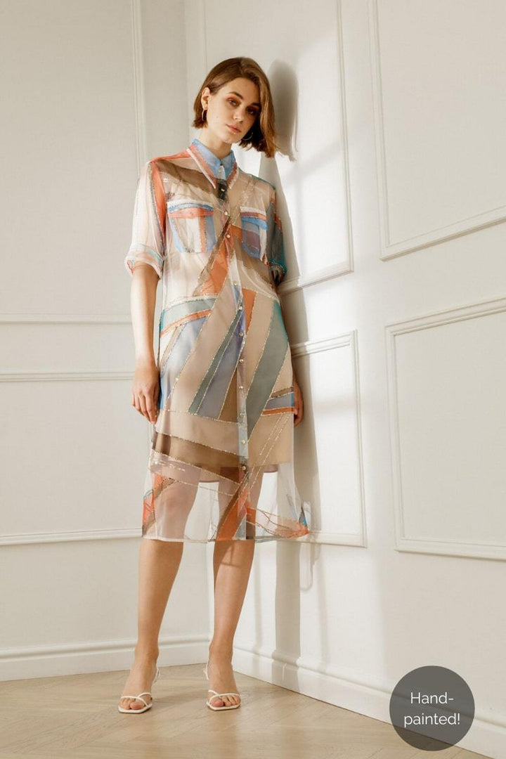 Diana Arno - KENDALL TULLE SHIRT DRESS