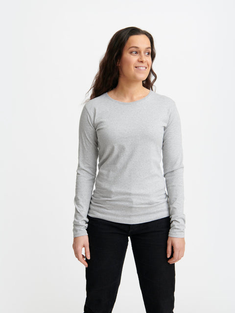 Women's Long Sleeve T-Shirt Grey Melange
