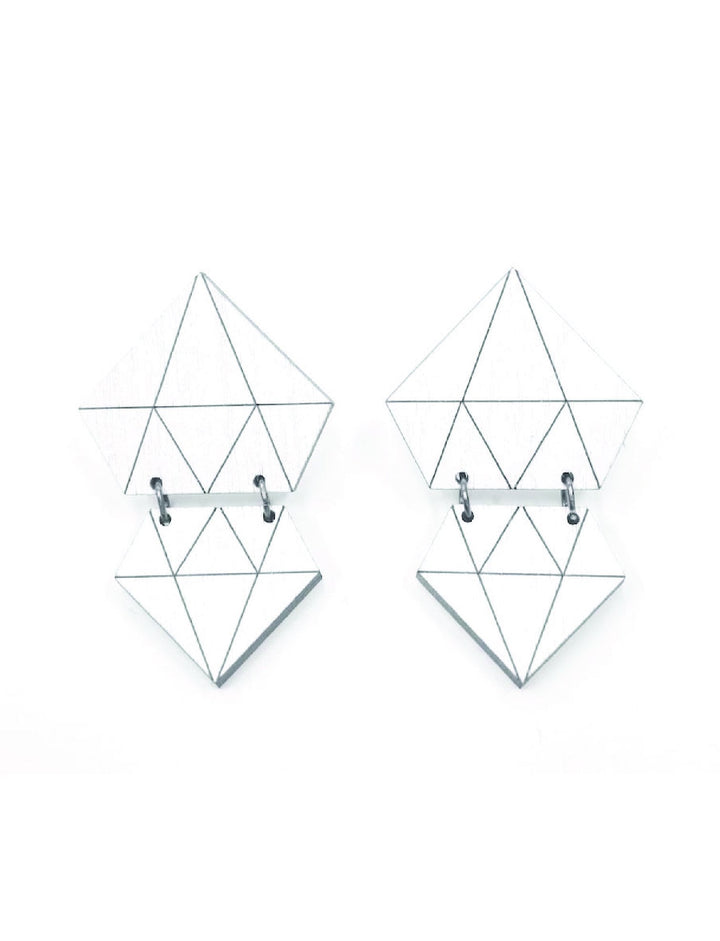 MORICO - Diamonds Earrings - White