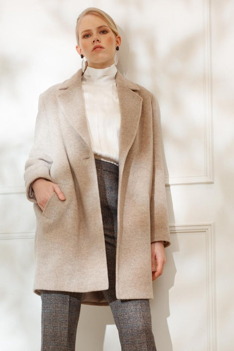 ELLA PADDED WOOL JACKET IN TOFU