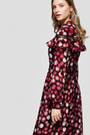 Diana Arno - FIONA RUFFLED MIDI DRESS IN RASPBERRY, image no.3