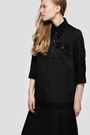 - SONIA PLEATED SHIRT DRESS IN BLACK, image no.3