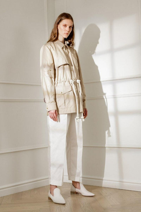 POLLY SAFARI JACKET IN SANDY BEIGE
