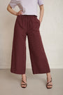 RESIDUS - RAIN SASHIKO PANTS - COPPER RED, image no.2