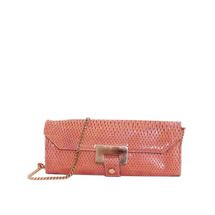 - Renata Cocktail Clutch Pyton Pink - Outlet