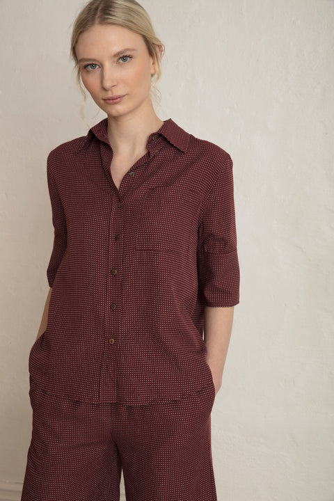 RODA SASHIKO SHIRT - COPPER RED