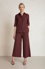 RESIDUS - RAIN SASHIKO PANTS - COPPER RED, image no.1