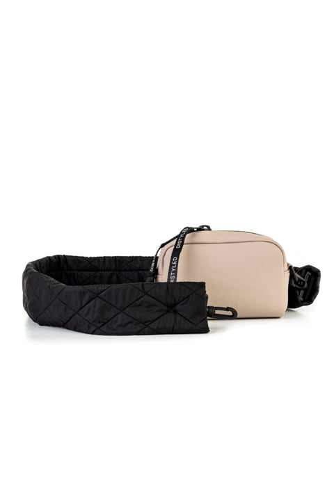 Eco Camera Bag Small Quilted Strap Blush