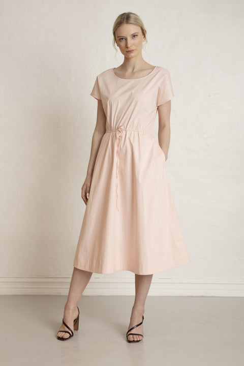 ROME SATEEN DRESS - CHINTZ ROSE