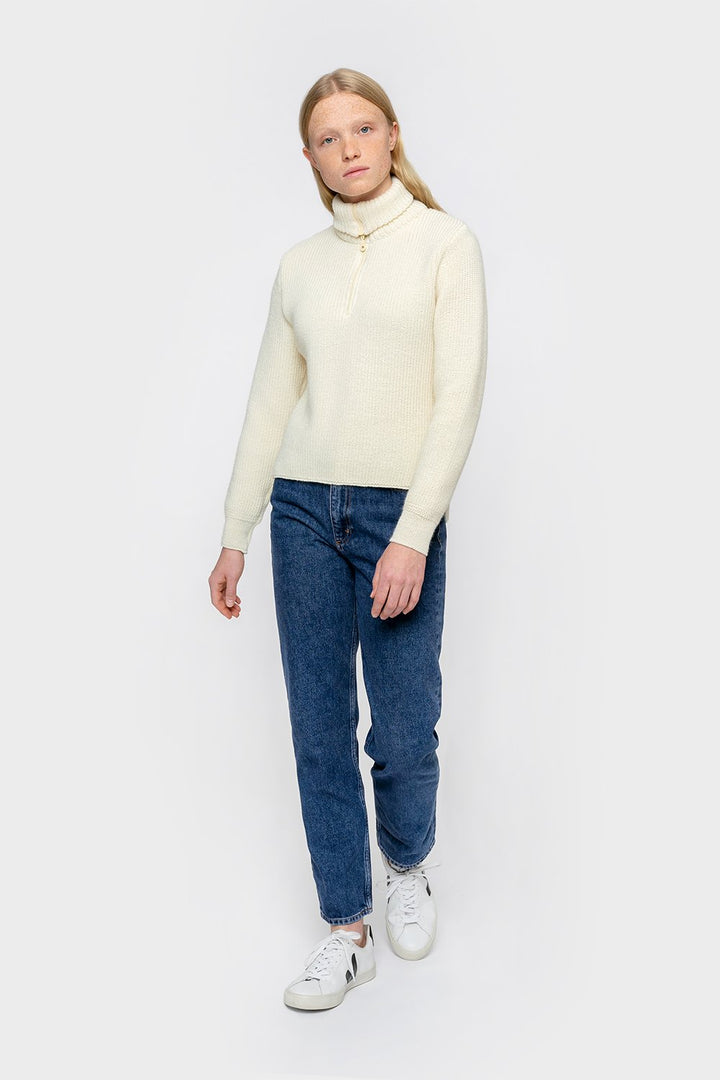 Rotholz - Cropped Knitted Sweater White