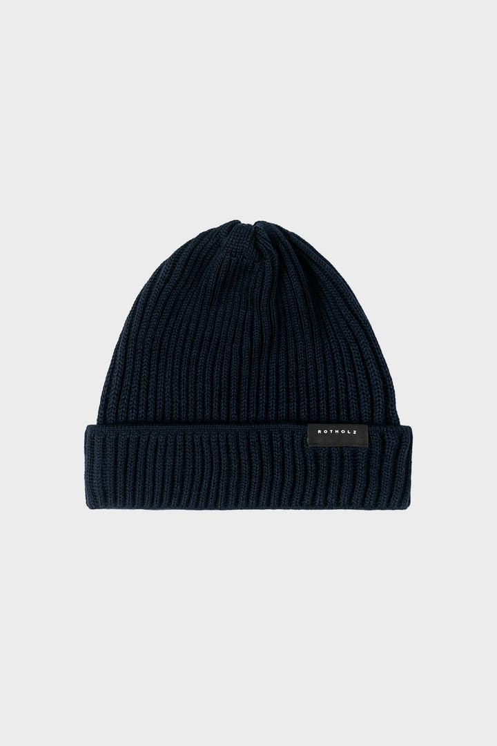 - 'Merino Knit Beanie' Navy Blue