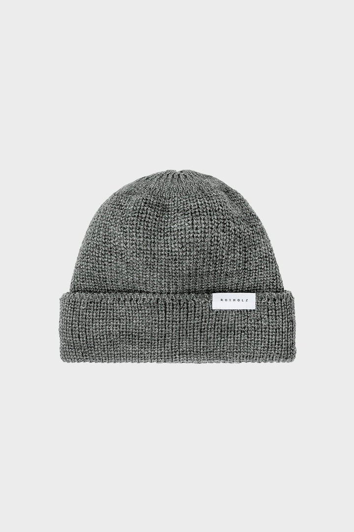 Rotholz - Classic Ribbed Wool Beanie Grey