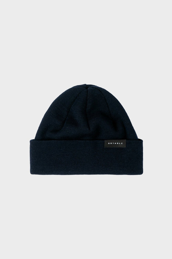 Rotholz - Short Merino Beanie Navy