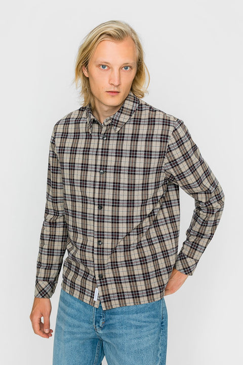 Casual shirt brown checkered