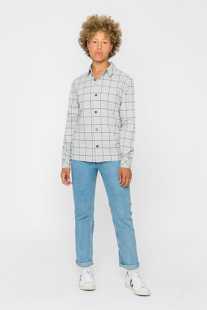 Rotholz - Casual shirt gray checked