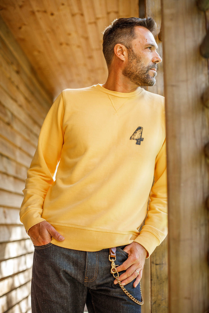 &SONS - Boxer No.4 Sweatshirt Yellow
