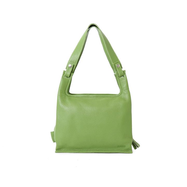 LUMI - Classic Supermarket Bag Medium Moss - Outlet