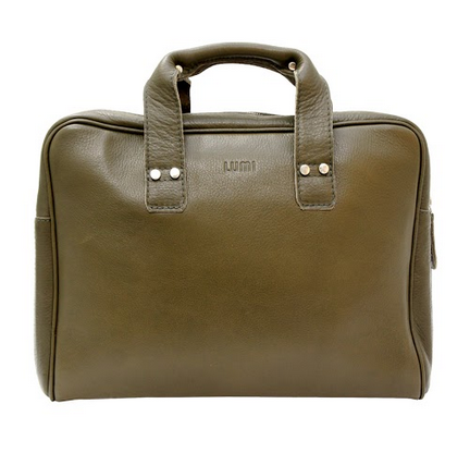 LUMI - Juhana Small Laptop Bag Bronze - Outlet
