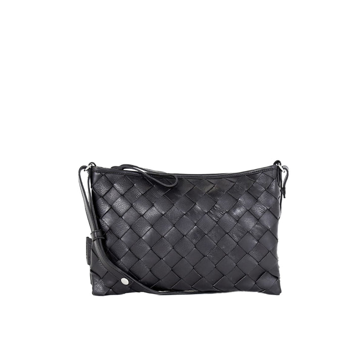 LUMI - Trine Woven Clutch Large Black