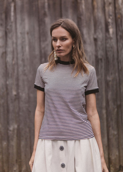 Striped t-shirt in organic cotton