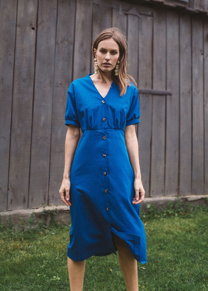 Tales of Anyday - BUBU midi dress in blue