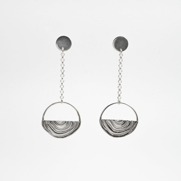 Vuolas Circular Design - Vuosi Silver Circle Drop Earrings