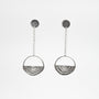 Vuolas Circular Design - Vuosi Silver Circle Drop Earrings, image no.1