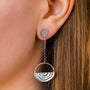 Vuolas Circular Design - Vuosi Silver Circle Drop Earrings, image no.2