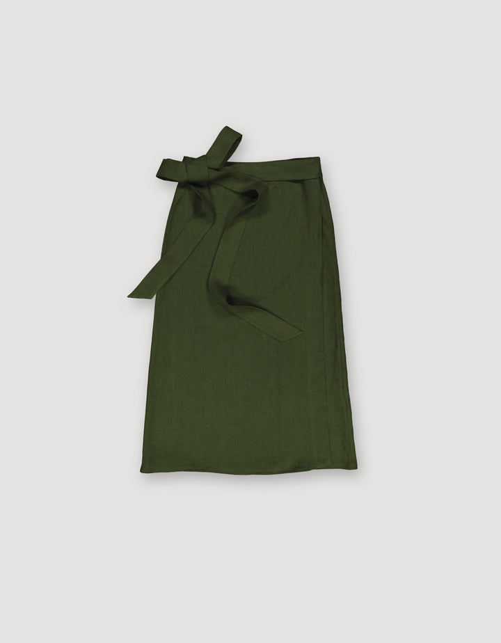 - Wrap Skirt Dark Green