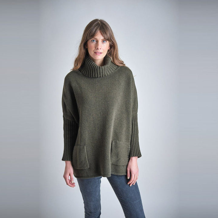 - Adela Wool Jumper Forest Green