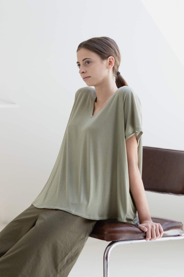 ABLESIA - Blouse in Green