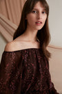- Esther Chiffon Top Burgundy, image no.2