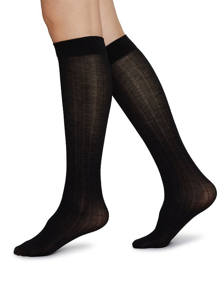 - Freja Bio Wool Knee-Highs Black
