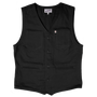 &SONS - Black Lincoln Waistcoat / Vest, image no.2