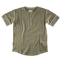 &SONS - The New Elder Henley Short Sleeve Shirt Army Green, image no.2