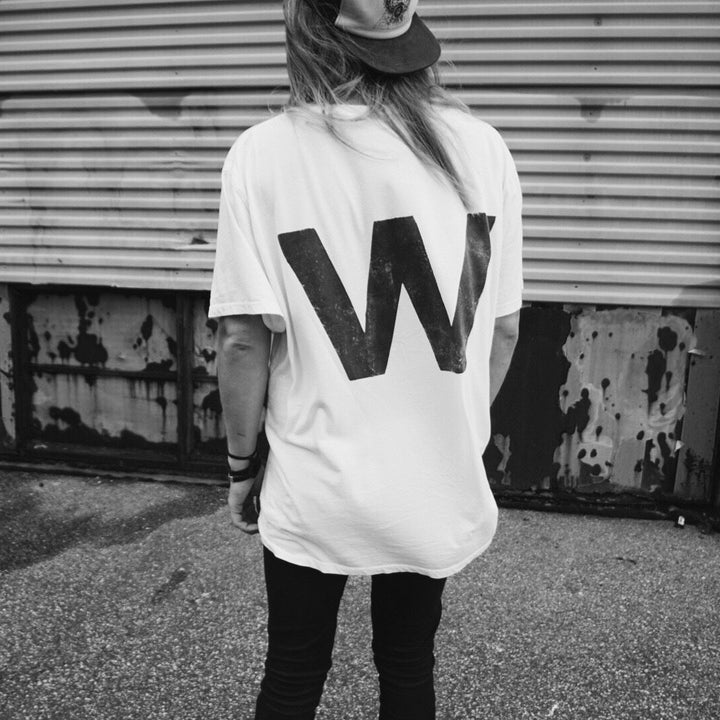 - W | Oversized Off-White Tee