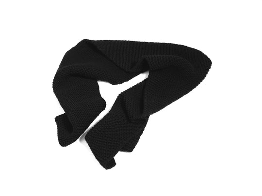 Black Wool Scarf