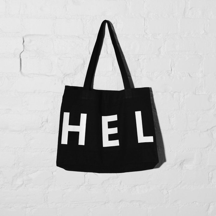 WWOOLLFF CO. - HEL N° 5 | Black Shopper Bag