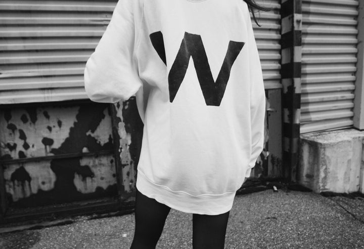 - W | Oversized Off-White Sweatshirt