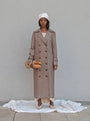 - BABUSHKA VINTAGE FABRIC MOCCA WOOL COAT, image no.1
