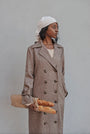 - BABUSHKA VINTAGE FABRIC MOCCA WOOL COAT, image no.2