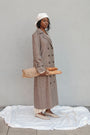 - BABUSHKA VINTAGE FABRIC MOCCA WOOL COAT, image no.3