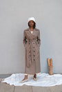 - BABUSHKA VINTAGE FABRIC MOCCA WOOL COAT, image no.5