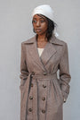 - BABUSHKA VINTAGE FABRIC MOCCA WOOL COAT, image no.6