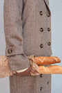 - BABUSHKA VINTAGE FABRIC MOCCA WOOL COAT, image no.7