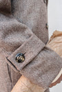 - BABUSHKA VINTAGE FABRIC MOCCA WOOL COAT, image no.8