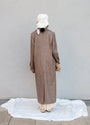 - BABUSHKA VINTAGE FABRIC MOCCA WOOL COAT, image no.9
