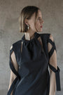 K M by L A N G E - BLACK OPEN BACK LENA DRESS, image no.3